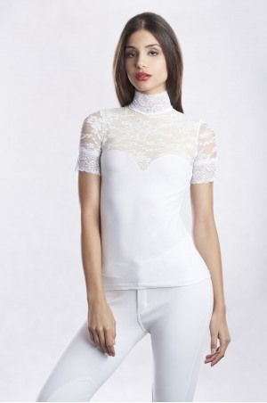 LUXURIOUS LACE Short Sleeve Lace Show Shirt