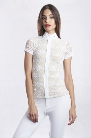 GRANDIOSE LACE Short Sleeve Lace Show Shirt