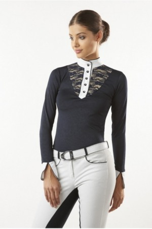 LACE CHIC TECHNICAL Long Sleeve Show Shirt