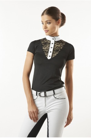 LACE CHIC TECHNICAL Short Sleeve Show Shirt