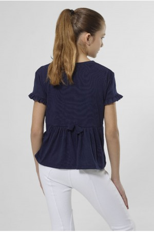 FRILLY BEAUTY Short Sleeve Loose Fit Top