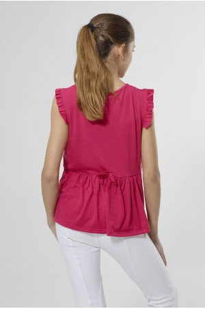 FRILLY BEAUTY Sleeveless Loose Fit Top