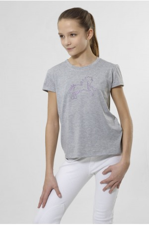 LOVELY PONY ROSE Short Sleeve Top