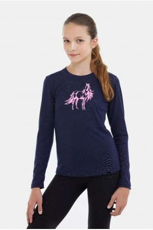 182-203102 Riding Top for Kids Long Sleeve - STARRY, Equestrian Apparel
