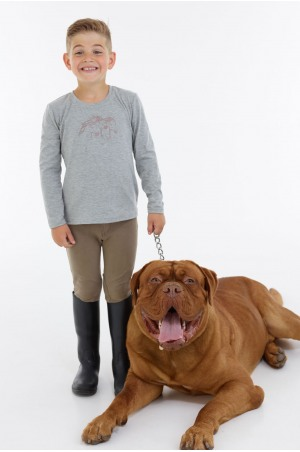 Riding Top for Kids Long Sleeve - IVY, Equestrian Apparel