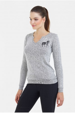 Riding Viscose Jersey Loose Sweater - GRAND, Equestrian Apparel