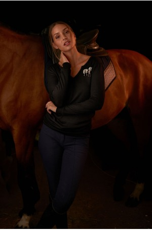 Riding Viscose Jersey Loose Sweater - GRAND, Equestrian Apparel