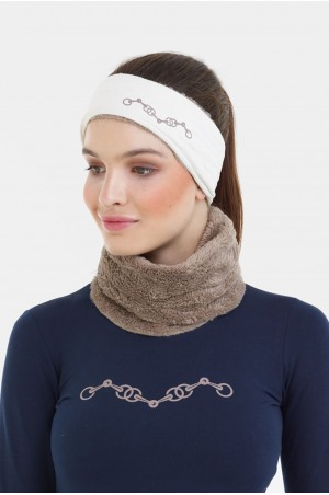 182-105506 Riding Ear Warmer, Headband with Suede and Cosy Inserts - CHAMPIONSHIP, Technical Equestrian Apparel