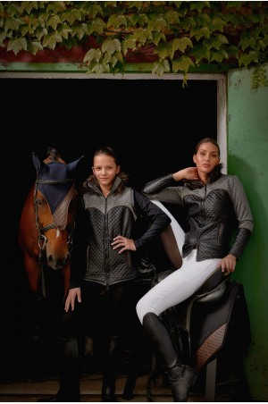182-101713 Winter Riding Jacket MAJESTY - SOFTSHELL FUR, Waterproof, Technical Equestrian Apparel