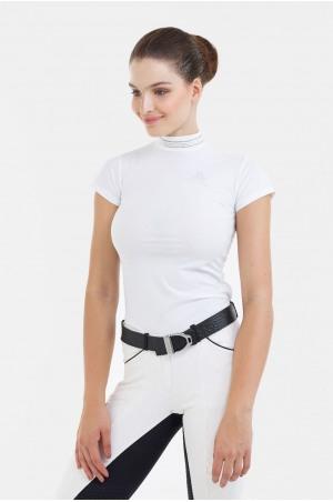 182-308412 Riding Show Shirt TIARA - Short Sleeve, Technical Equestrian Apparel