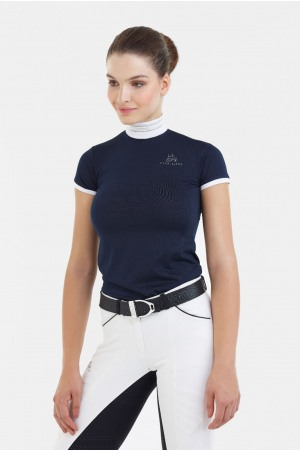 Riding Show Shirt TIARA - Short Sleeve, Technical Equestrian Apparel
