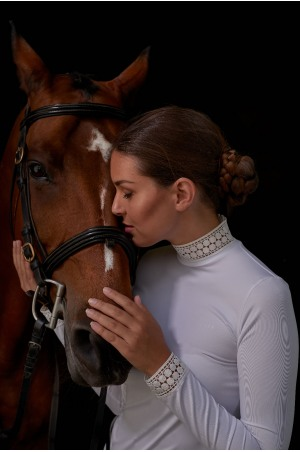 Riding Show Shirt BELLA LACE - Long Sleeve, Technical Equestrian Apparel