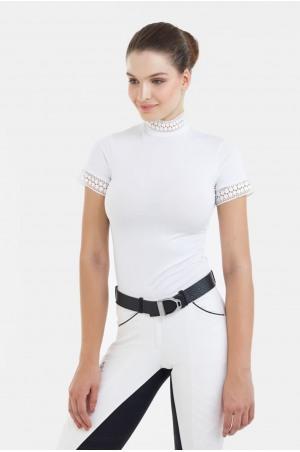 Riding Show Shirt BELLA LACE - Short Sleeve, Technical Equestrian Apparel