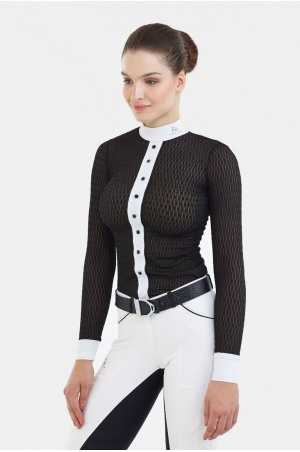 Riding Show Shirt DIVA - Long Sleeve, Technical Equestrian Apparel