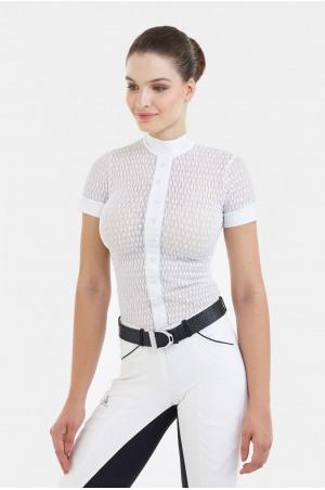 Riding Show Shirt DIVA - Short Sleeve, Technical Equestrian Apparel