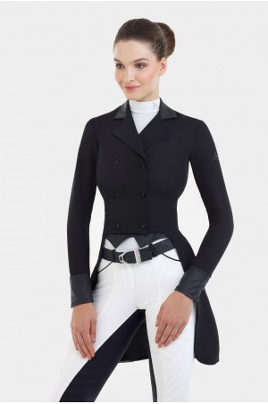 182-303811 Dressage Tail Coat LUX - SECOND SKIN TECHNOLOGY, Softshell, Technical Equestrian Apparel