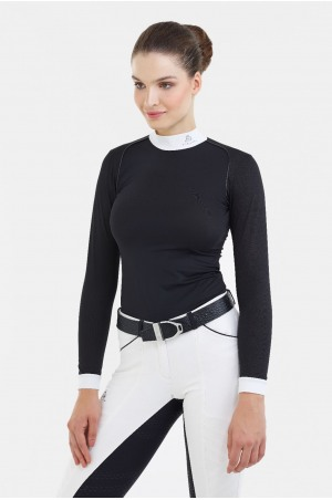 Riding Show Shirt LUX - Long Sleeve, Technical Equestrian Apparel