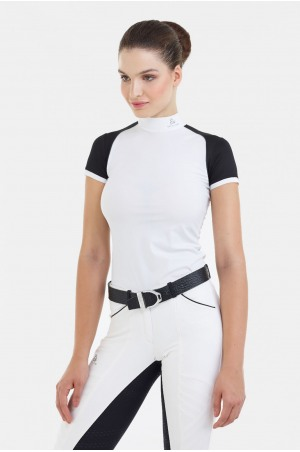 182-303412 Riding Show Shirt LUX - Short Sleeve, Technical Equestrian Apparel