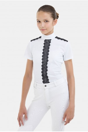 Riding Show Shirt - PURITY LACE Short Sleeve, Technical Equestrian Apparel