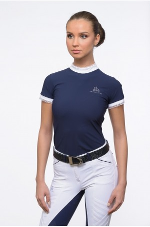 Riding Show Shirt PRINCESS - Short Sleeve, Technical Equestrian Apparel