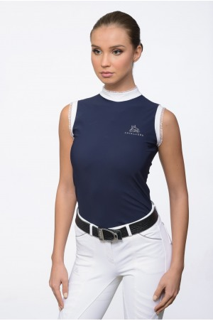 Riding Show Shirt PRINCESS - Sleeveless, Technical Equestrian Apparel