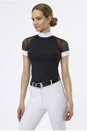 Riding Show Shirt CONTESSA - Short Sleeve, Technical Equestrian Apparel