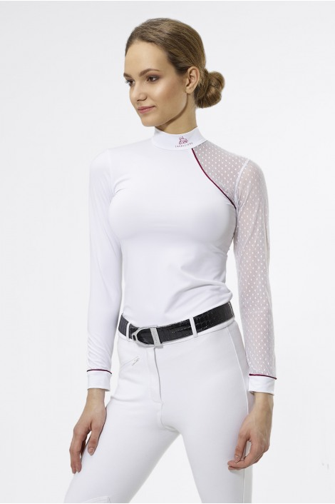 Riding Show Shirt DAME - Long Sleeve, Technical Equestrian Apparel