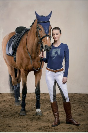 Riding Cotton Top Long Sleeve - JUMPING STAR, Equestrian Apparel