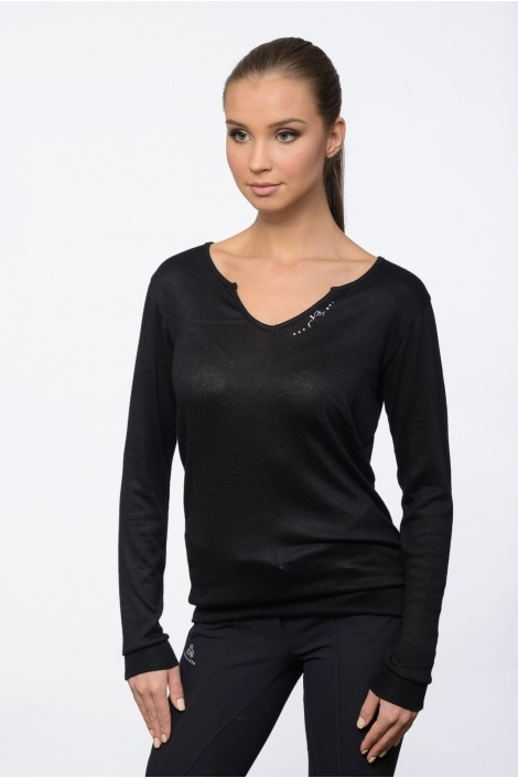 Riding Viscose Jersey Loose Sweater - CLASS, Equestrian Apparel