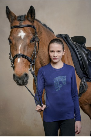 Riding Top for Kids Long Sleeve - LITTLE JUMPER, Equestrian Apparel