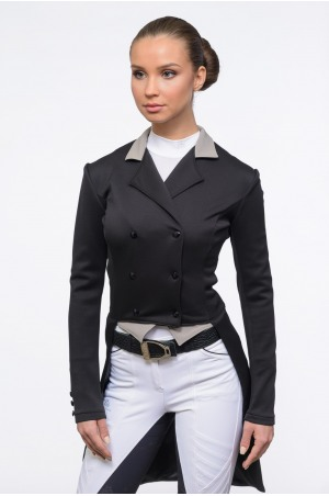 Dressage Tail Coat PASSION - SECOND SKIN TECHNOLOGY, Softshell, Technical Equestrian Apparel