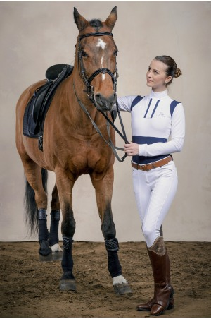 Riding Show Shirt SNAZZY - Long Sleeve, Technical Equestrian Apparel