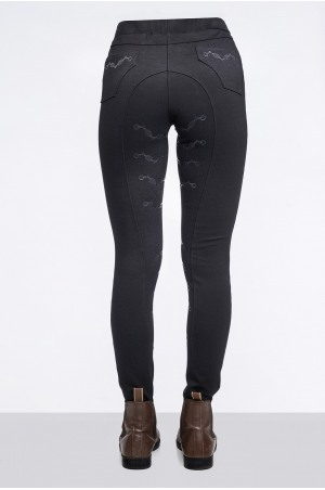 Riding Technical Leggings ROYAL PLEASURE - Full Seat Silicon, Technical Equestrian Apparel