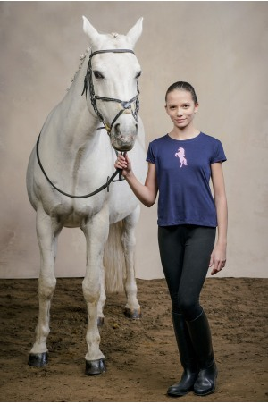 Riding Top for Kids Short Sleeve - GLITTER UNICORN, Equestrian Apparel