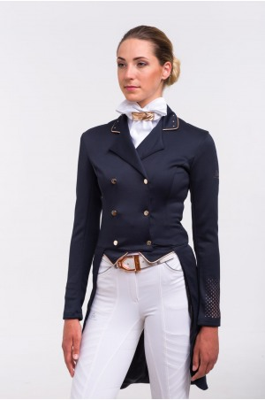 519-103120 Dressage Tailcoat ROSE GOLD - SECOND SKIN TECHNOLOGY. Softshell. Technical Equestrian Apparel