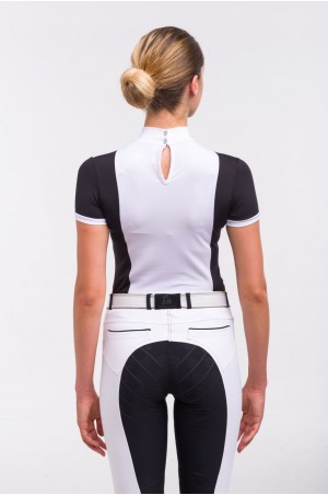 Riding Show Shirt BLACK JACK - Short Sleeve. Technical Equestrian Apparel