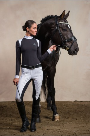 Riding Show Shirt BLACK JACK - Long Sleeve. Technical Equestrian Apparel