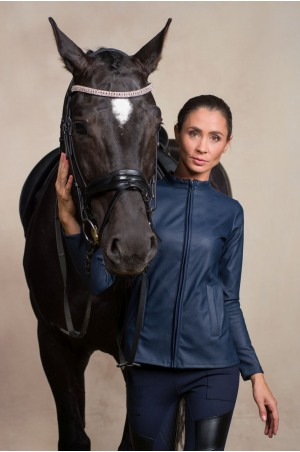 Riding Faux Leather Coat - JAX Technical Equestrian Apparel