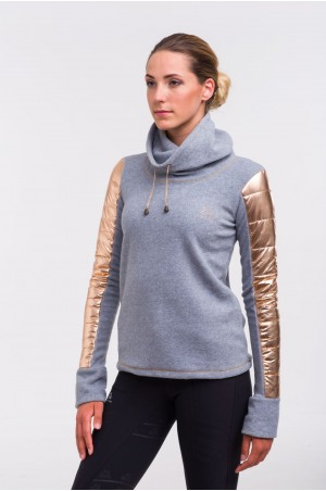 619-104130 Riding Sweater - ROSE GOLD Technical Equestrian Apparel