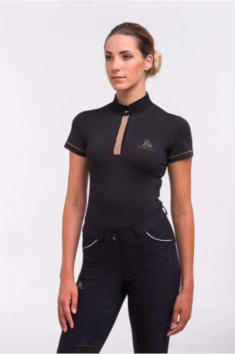 Riding Top ROSE GOLD - Short Sleeve. Technical Equestrian Apparel