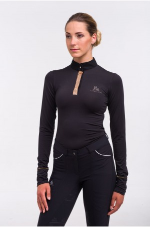 619-105152 Riding Top ROSE GOLD - Long Sleeve. Technical Equestrian Apparel