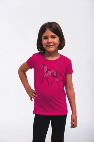 Riding Top for Kids Short Sleeve - SPARKLE, Equestrian Apparel