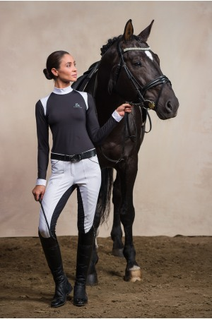 Riding Show Shirt BLACK JACK - Short Sleeve. Technical Equestrian Apparel