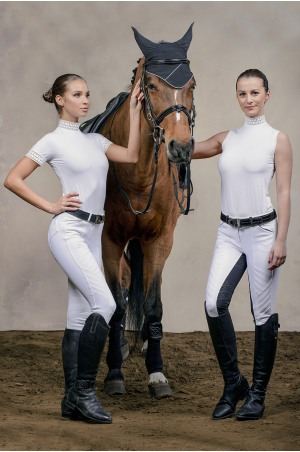 Riding Show Shirt - BELLA LACE Long Sleeve, Technical