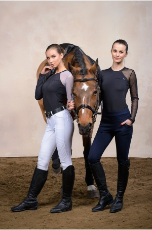Riding Shirt ALLORE - Short Sleeve, Technical Equestrian Apparel