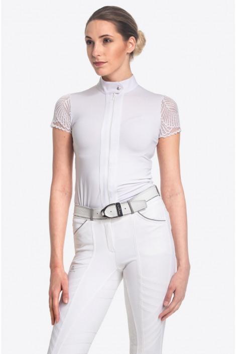 Riding Show Shirt ANGEL - Short Sleeve, Technical Equestrian Apparel