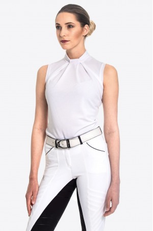 Riding Show Shirt FESTIVE - Sleeveless, Technical Equestrian Apparel