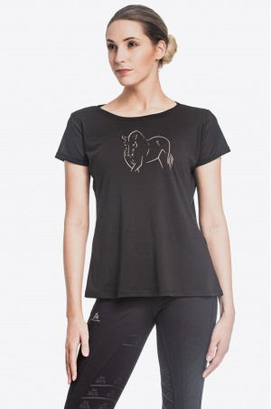 Riding T-Shirt ROSE GOLD - Short Sleeve, Technical Equestrian Apparel