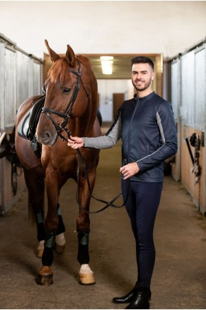Пальто для верховой езды из искусственной кожи JAX MEN - спецодежда для конного спорта из технической ткани