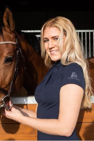 Топ для верховой езды CASUAL CHIC - короткий рукав, спецодежда для конного спорта из хлопчатобумажной ткани